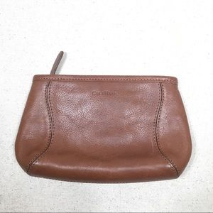 Cole Haan Brown Leather Cosmetic Bag Pouch